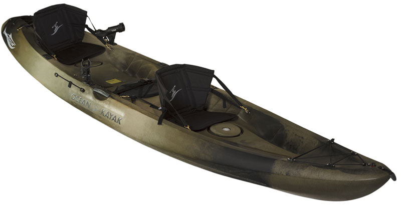 Ocean kayak malibu 2 xl angler tandem fishing kayaks for Best tandem fishing kayak