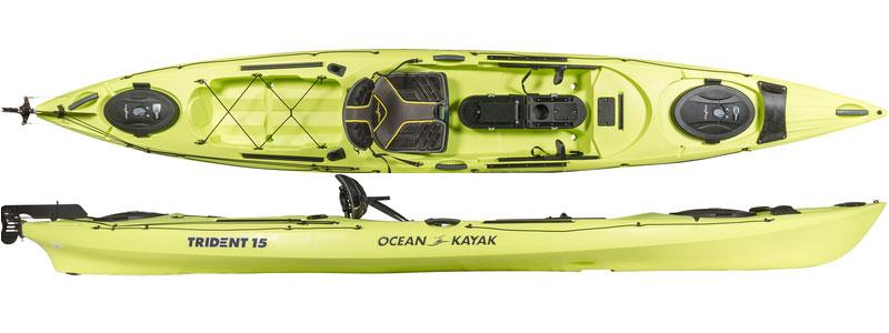 Ocean kayak trident 15 angler 2017 fishing kayaks for sale for 2017 fishing kayaks